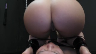 Mistress Kristina Rose Facesitting & Ass Worship Femdom  ass worship big ass natural bdsm facesitting femdom meanbitches small tits kink domme butt mistress latin kiss her ass face grinding orgasm kristina rose ass licking lick her asshole