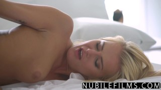 NubileFilms - All She Wants Is Cock And Cum  love making riding babe nubilefilms blonde blowjob cumshot sensual hardcore smalltits petite shaved romantic orgasm doggystyle aisha
