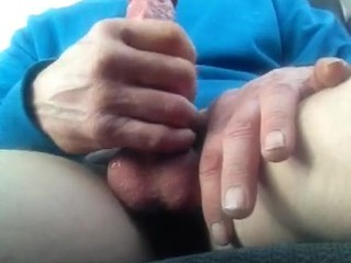 Me jacking off at lunch at work in my truck