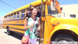 Digital Playground- School Bus Driver Comforts Sad Student With His Hard Di  riding dp teen cock-sucking small skinny schoolgirl pounded young digitalplayground school high-socks socks big-dick teenager rawcuts shool-bus