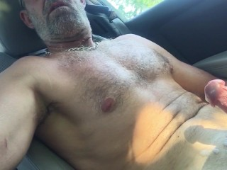Jacking off in the bank parking lot1