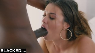 BLACKED She'll Do Whatever It Takes  brunette reverse-cowgirl cowgirl blacked doggystyle facial doggy style sex bbc riding pussy-licking black blowjob