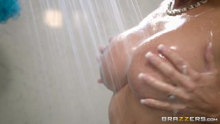 Brazzers - Step son catches Reagan Foxx in the shower  ass big-tits booty step-son mom big-boobs fake-tits brazzers shower pounded milf wet shaved tight mother stepmom