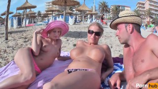 03 Szene Anna Lucas Nadine Mallorca - Scene 1 german big-tits blonde blowjob shaved-pussy double-penetration rim-job strap-on threesome public outside reality natural-tits big-dick adult-toys pussy-licking