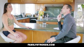 FamilyStrokes - Mom Caught Me Fucking Her Husband  big-cock mom cumshot step-daughter hardcore brunette cowgirl reverse-cowgirl stepdad familystrokes step-father shaved mother small-tits doggystyle geneva-king
