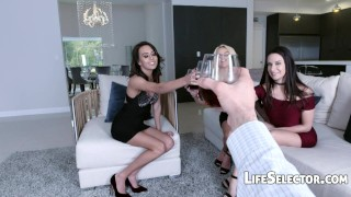A day with Janice Griffith and friends  college american teen point-of-view blowjob blonde pornstar foursome pov vaginal-sex lifeselector hardcore girlfriend brunette petite small-tits