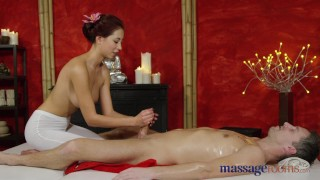 Massage Rooms Nympho Asian fucks big cock before hot hand job  paula-shy big-cock shaved-pussy asian blowjob massage female-friendly 69-position sensual female-orgasm brunette feet massagerooms big-natural-tits orgasm handjob-compilation