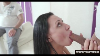 Brunette MILF fucks another man for her husband  milf hardcore brunette mother housewife eva-ann cuckold couple wife dothewife mom blowjob