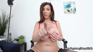 sarajay huge-tits fake-tits big-boobs mom mother masturbate joi huge-boobs solo solo-masturbation juggs teacher busty-teacher boobs thick curvy