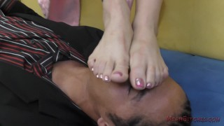 Nyomi Star Asian Foot Worship - Femdom  kiss-her-feet kink foot-worship domme feet mistress lick-her-feet nyomi-star smell-her-feet foot-fetish meanbitches asian