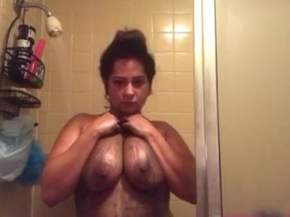 Showering my big titties part 2