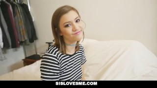 SisLovesMe - Step-Sister Wants To Be Tied Up  step-siblings tied bdsm step-brother cim cumshot small-frame stepbro petite step-sister shaved sislovesme stepsis bigcock riley-mae