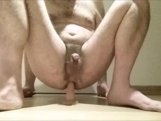 Straight guy ass fucked deep with dildo - mec enculé profond par gode