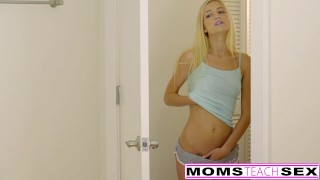 Cum Craving Teen Alex Grey Fucks Stepmom & Brother  riding threeway mom blonde momsteachsex tiny-teen skinny milf smalltits step-sister step-sis mother threesome step-mom bigcock doggystyle brandi love
