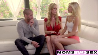 Cum Craving Teen Alex Grey Fucks Stepmom & Brother milf threeway mom blonde riding momsteachsex mother brandi love threesome smalltits skinny bigcock doggystyle