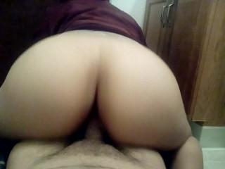 Latina riding my dick reverse cowgirl