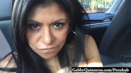 Face Covered in Cum for Latin Slut Gabby Quinteros
