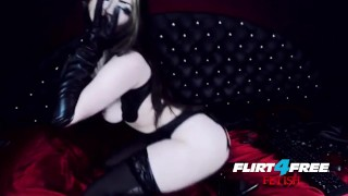 Goth Goddess Fucks Herself in Latex  gothic pussy alternative dominatrix bdsm submission goddess-worship latex-bondage masturbate goth big-boobs kink webcam humilation mistress boot worship flirt4freefetish