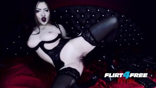 Goth Goddess Fucks Herself in Latex  alternative dominatrix bdsm submission goddess-worship latex-bondage masturbate goth big-boobs boot-worship kink webcam humilation mistress gothic-pussy flirt4freefetish