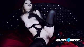 Goth Goddess Fucks Herself in Latex  alternative dominatrix bdsm submission goddess-worship latex-bondage masturbate goth kink webcam flirt4freefetish humilation mistress boot worship gothic-pussy