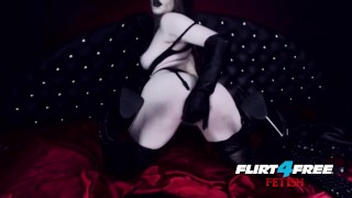 Goth Goddess Fucks Herself in Latex  gothic pussy alternative dominatrix bdsm submission masturbate goth kink webcam flirt4freefetish humilation mistress big boobs boot worship goddess worship latex bondage