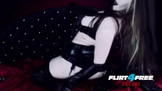 Goth Goddess Fucks Herself in Latex  gothic pussy dominatrix bdsm submission masturbate goth kink webcam humilation mistress big boobs goddess worship alternative flirt4freefetish latex bondage boot worship