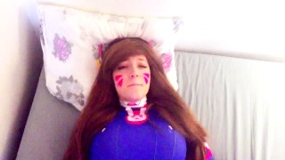 D.va gets play of the game  cosplay redhead college overwatch dva young amateur blowjob big ass teen cumshot big-boobs overwatch pov big-dick cowgirl doggystyle