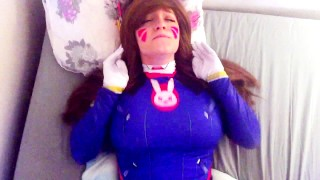 D.va gets play of the game cosplay redhead college overwatch-dva young amateur blowjob big-ass teen cumshot big-boobs overwatch pov big-dick cowgirl doggystyle