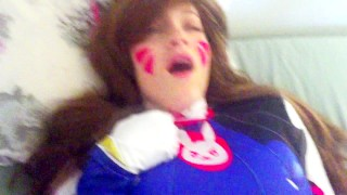 D.va gets play of the game  big ass college teen overwatch cosplay redhead amateur blowjob cumshot big-boobs pov young cowgirl big-dick doggystyle overwatch dva
