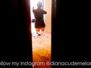 SECRET VIDEO CAUGHT !! - Diana cu de Melancia