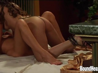 Lesbians Orgy movie: Enslaved Lesbians In Orgy With Their Mistress