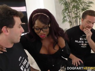 Ebony Jasmine Webb Fucks White Guys