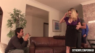 Blonde housewife takes it anally from porn stud  creampie cuckold couple wife mom blowjob blonde dothewife hardcore milf mother anal housewife angela-attison