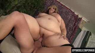 jeffsmodels chubby butt bbw plumper chunky fat-ass buxom bella blowjob hardcore blonde cock-sucking lingerie stockings reverse-cowgirl cumshot