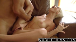 NubileFilms - Hot Sex With My Best Friends Daughter  babe outdoors pussy-licking nubilefilms blonde cumshot skinny young natural-tits petite zazie skyrim shaved big-dick doggystyle facial ass licking