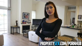 PropertySex - Cheating on wife with real estate agent  cheating babe shaved-pussy point-of-view blowjob amateur pov propertysex hardcore natural-tits brunette reality real-estate-agent no-panties