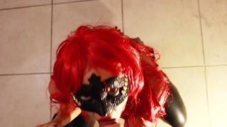 SECRETCRUSH - Teen Redhead Latex Vixen Gives POV Sloppy Slobbery Blowjob!  sloppy point-of-view vixen redhead gag leather cumshot pov pvc blow-job latex sloppy-pov-blowjob slobbering-blowjob slobber sloppy-blow-job slobbery-blowjob
