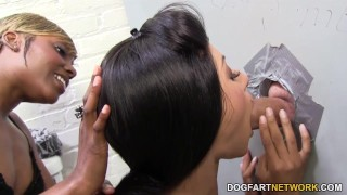 Rashae and Nadia Pariss suck and fuck - Gloryhole  big cock ebony black blowjob gloryhole pornstar small tits fetish hardcore interracial dogfartnetwork 3some deepthroat threesome glory hole