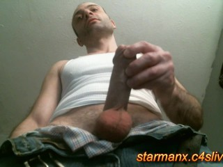 Starman X - Sexy dude jacks big cock and cums