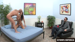Hot girl fucked in front of her husband softcore kourtney-kane hardcore wife dothewife cuckold blowjob housewife