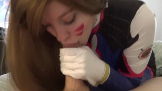 Nerf this! Let's shoot for a new high score!  college fellatio 1080p overwatch oral cosplay redhead cumshot young hd-pov 60fps deepthroat facial d.va