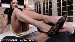 FootsieBabes Soft Delicate Toes All for Stepson  footing foot-fetish blonde big-boobs soles milf natural-tits footjob footsiebabes toes feet cougar toe-sucking toe-fucking footworship high-heels cum-on-toes
