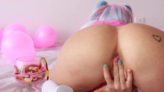 SECRETCRUSH - Candy Land || Teen Teases Ass Squirts Stuffs Ass With Sweets  teen squirt sexy innocent enema perky-tits fetish squirting kinky candy piss cute prolapse anal ass squirt lollies