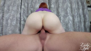 She came so hard she actually cried! Redhead milf  close up lady fyre bush hairy pussy creampie redhead femdom mom milf mother orgasm laz fyre doggystyle crying interupted cum inside me