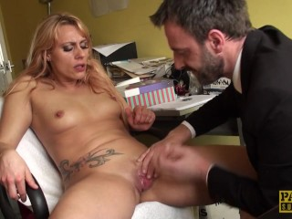 Enjoys Brit Fingered video: Pussy fingered brit enjoys rough treatment