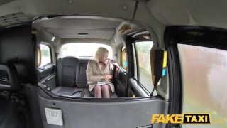 Fake Taxi Journalist gets exclusive fake news story from London taxi driver faketaxi dogging rough news-reporter blonde british misha-mayfair rimming spycam public car pov oral fake ass-licking camera