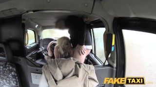 Fake Taxi Journalist gets exclusive fake news story from London taxi driver faketaxi dogging rough news-reporter blonde british misha-mayfair rimming spycam public car pov oral fake camera