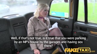 Fake Taxi Journalist gets exclusive fake news story from London taxi driver  news reporter misha mayfair british oral point-of-view blonde public pov fake camera faketaxi rimming spycam car dogging rough
