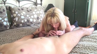 53 year old MILF Sucks and Fucks a 20 year old Young Fan  fuck a fan canada old canadian mom blowjob 69 milf cougar mother fan fuck quebec thick cock ontario cum in mouth old woman young boy