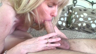 53 year old MILF Sucks and Fucks a 20 year old Young Fan  canada old canadian mom blowjob 69 milf cougar mother old woman young boy fan fuck quebec thick cock ontario cum in mouth fuck a fan